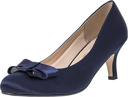 LEXUS Marilyn - Zapatos de vestir para mujer azul marino