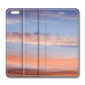Brown Clouds Sky iPhone 6 Plus 5.5inch Leather Case, Personalized Protective Slim Fit Skin Cover For Iphone 6 Plus [Stand Feature] Flip Case Cover for New iPhone 6 Plus by Maris's Diary