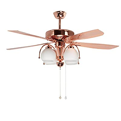 Akronfire Tropical Ceiling Fan 52-Inch Remote Control With 5 Durable&Reversible Blades Mute Fan Chandelier for Home Decoration