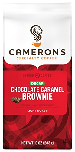 Cameron's Coffee Roasted Ground Coffee Bag, Flavored, Decaf Chocolate Caramel Brownie, 10 (Chocolate Caramel Flavored Coffee)