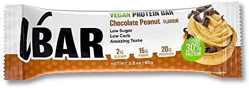 Veganer Eiweißriegel - VBAR 65gx12 (Chocolate Peanut)