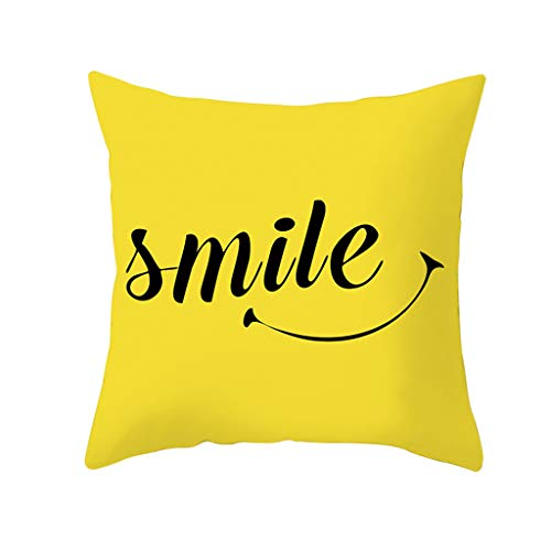 Alixyz Alixyz 1 PC Pillow case Yellow Pillow Case Sofa Car Waist Throw Cushion Cover Home Decor For Living Room Bedroom (M, H2)