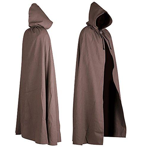 Aaron Canvas Cloak (Brown) -