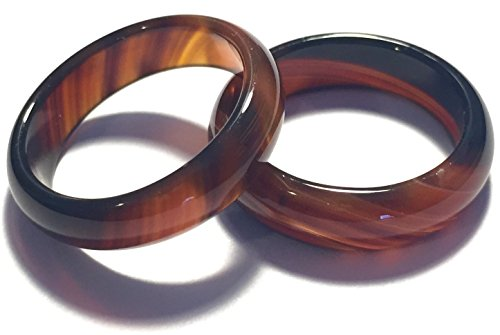 Whitestone Jewelry Co. Chocolate Tangerine Tortoise Shell Agate Ring (Size 8)