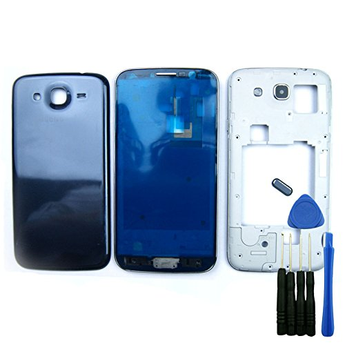 Blue Full Housing Cover Case Replacement for Samsung Galaxy Mega 5.8 I9150 I9152