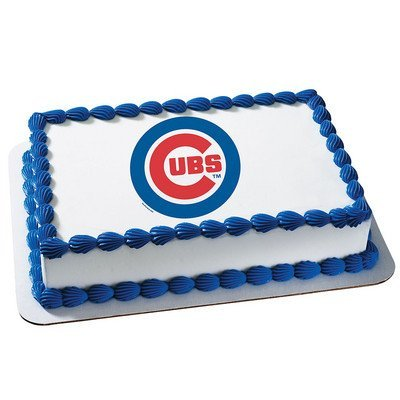 Chicago Cubs Licensed Edible Cake Topper #4645 ()