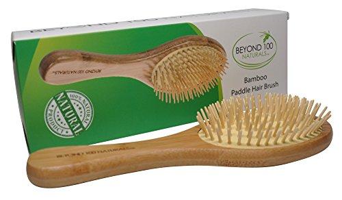 Beyond 100 Naturals Dry Scalp Bamboo Paddle Brush for Hair Detangler, Dandruff Scalp