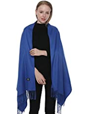 Yeieeo Pashmina Shawls and Wraps for Women - Lightweight Scarf in Solid Colors