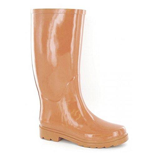 Stripe Spot Ladies Wellington Orange Diamante On Womens Boots AqawPz