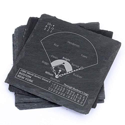 Greatest Mets Plays - Slate Coasters (Set of 4) ()