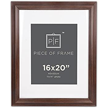 Amazon.com - Golden State Art 16x20 Brown Border Photo Frame, with ...