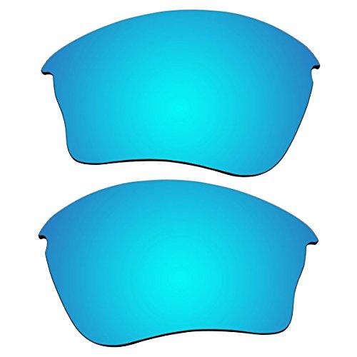 Replacement Polarized Lenses for Oakley Half Jacket XLJ Sunglasses (Ice Blue - Jacket Oakley Polarized Replacement Lenses Xlj Half
