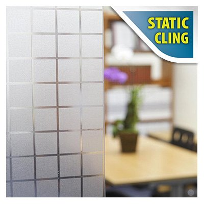 BDF 1PBL Window Film Non-Adhesive Frosted Privacy Block Static Cling (opaque, 39