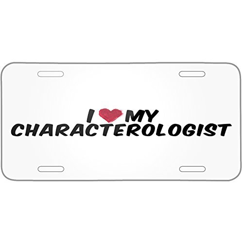 I heart love my Characterologist Metal License Plate 6X12 Inch