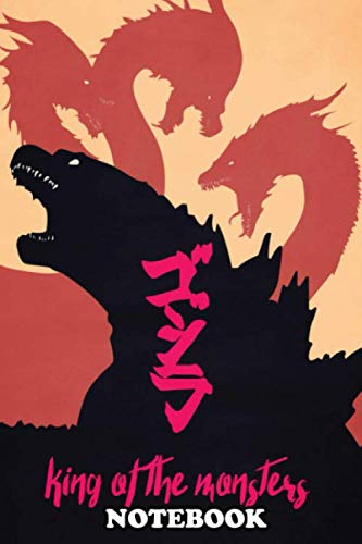 """Notebook: Illustration Of Godzilla And King Ghidorah As The Main , Journal for Writing, College Ruled Size 6"""" x 9"""", 110 Pages"""