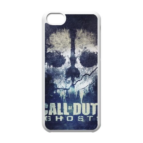 Call Of Duty Ghosts I8N12Y4OX coque iPhone 5c case coque white T313IQ