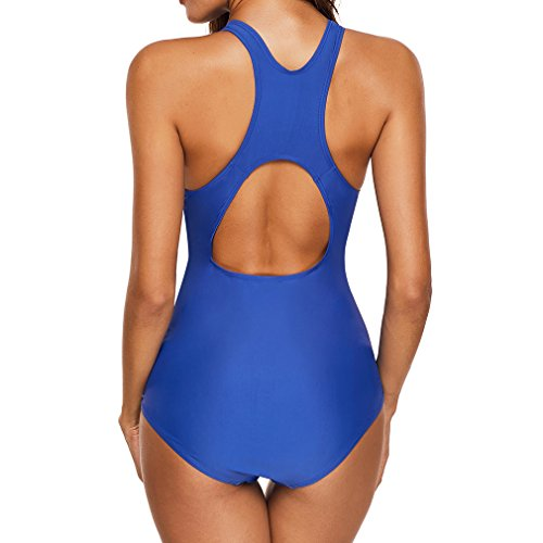 Junkai beachwear costume da morbido 5XL elasticità S da costume bagno Blu alta bagno Srx8SFq