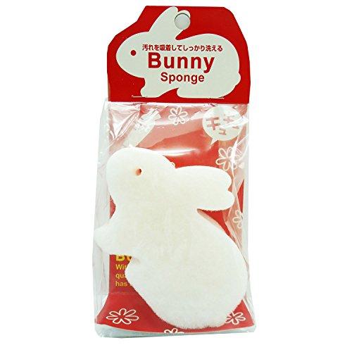オーエ クリーンフレンズ キッチン スポンジ ウサギ 白 約8×11.4×3.7cm 汚れを吸着して しっかり洗える Bunny Sponge