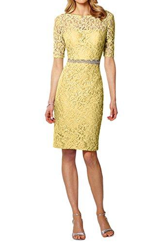 mujer amarillo Vestido para Estuche Topkleider 0tCPqwB