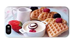 Do It Yourself DIY iphone 5 cover spec Delicious breakfast fruit waffles strawberries dessert PC 3D for Apple iPhone 5/5S