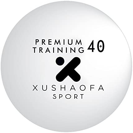 120 pelotas de tenis de mesa Xushaofa Premium Training 40+, 120 pelotas de ping pong sin costura, blancas