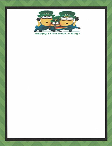 Minions Happy St Patrick's Day Stationery Printer Paper 26 Sheets