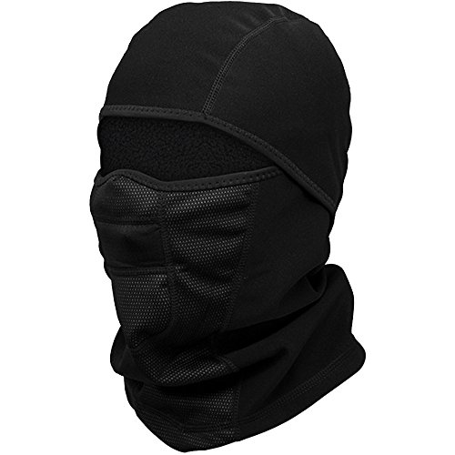Balaclava Face Mask for Cold Weather - Windproof Ski Mask - Winter Motorcycle Helmet Liner Snowboard Neck Warmer Tactical Balaclava Hood for Women Men (Black)