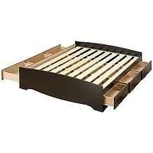 Prepac BBQ-6200 Sonoma Queen Platform Storage Bed with 6 Drawers (Black)