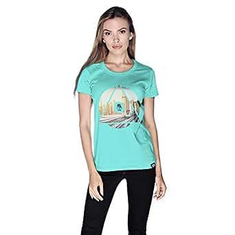 Creo Dubai T-Shirt For Women - L, Green