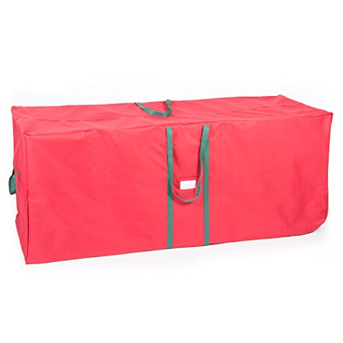 (Christmas Tree Storage Bag - Fits Trees Up to 12 Feet Durable with Easy to Roll Wheels - Extra Large Xmas Holiday Tree Organizer and Artificial Holiday Tree Storage Bag (Classic red))