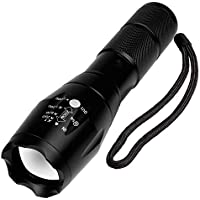 Vman Tactical Portable Ultra Bright Handheld LED Flashlight for Camping Hiking with Adjustable Focus, 2000 Lumens, Water-Resistant, 5 Light Modes