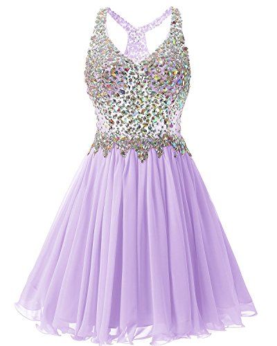 Lavender Bridesmaid Beaded Damen Fanciest Dress Kurz Heimkehr Abendkleider 2016 Ballkleid nHazxqzw