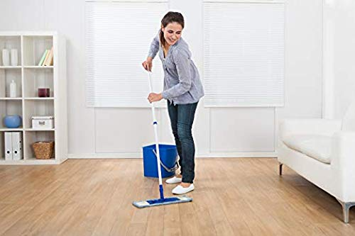 "Microfiber Pros Reusable 18"" Mop Pads – 5-Pack with 2 Bonus Cloths - Commercial Grade 450 GSM Flat Replacement Heads for Wet Or Dry Floor Cleaning and Scrubbing by Microfiber Pros (Image #2)"