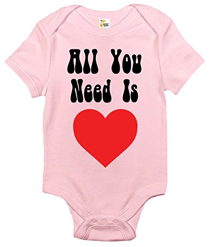 All You Need Is Love Baby Bodysuit Cute Baby Clothes for Boys and Girls (6-12 Months, (Need Love Infant Bodysuit)