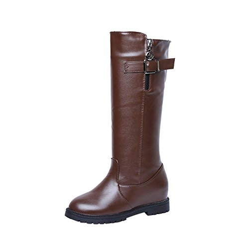 Zip Side Women Plush Ankle Ladies Boots Martin Boots Heels Boots Flat Brown Hatop Women Shoes With z1xw8x
