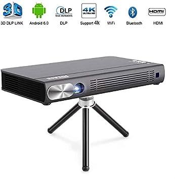 JOEAIS Mini Proyector, WiFi 3D DLP 200ANSI Portátil Bolsillo Vídeo ...