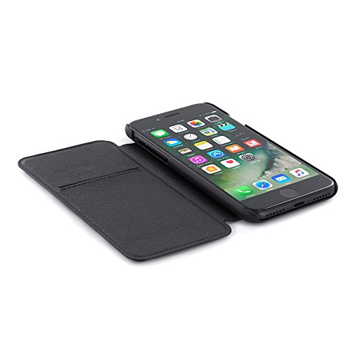 Ted Baker Leather Cover for iPhone 6S and iPhone 6, Real Leather Cover for iPhone 6S with Card Slots, Credit Card Case Leather Cover for iPhone 6S / 6, Leather Cover for iPhone 6 - Yogtop - Black