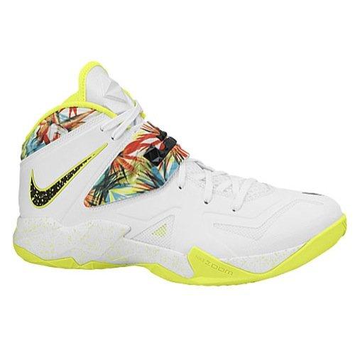 Nike Mens Lebron Zoom Soldier VII Basketball Shoes-White/Black-12