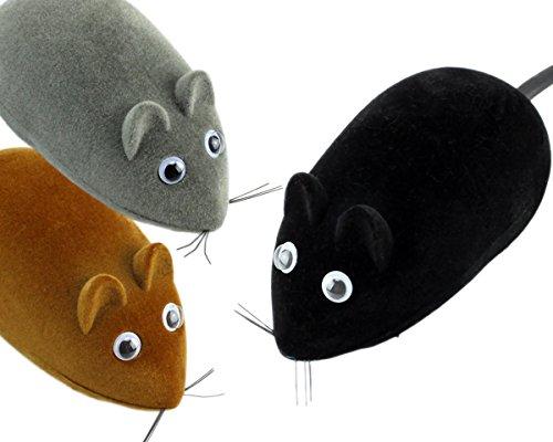 Spielzeugmaus Rennmaus Katzenspielzeug Maus mit Rückzug GYD