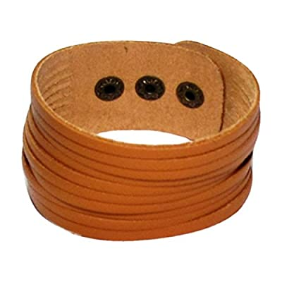 AUTHENTIC HANDMADE Leather Bracelet, Men Women Wristbands Braided Bangle Craft Multi [SKU001557]