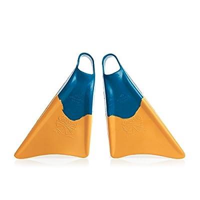 Churchill Makapuu Swimfins -Blue/Yellow