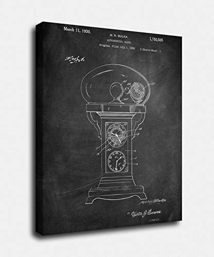 Astronomy Gifts, Print Factory -12x16, Astronomical Clock Canvas Prints, Patent, Vintage Art, Science Experiment, Patent Prints, Wall Art, DÃcor [TC21C]