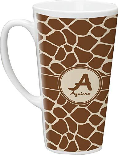 Giraffe Print Latte Mug (Personalized) (Mug Print Giraffe)