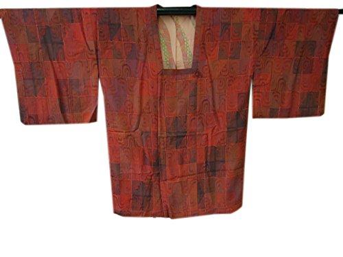 博多着物市場 きものしらゆり 裄68.2cm L ロング寸 紋意匠 ローケツ染 道行コート 正絹 仕立て上り 身長157cm~165cmの方に最適