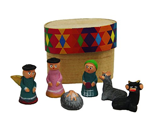 Boxed Clay Miniature Nacimento Nativity Set Clay Nativity Set