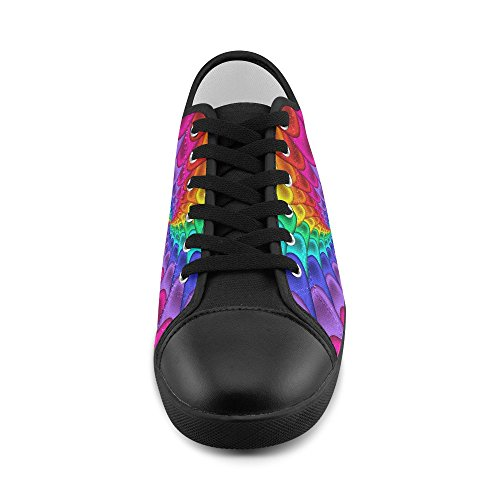 Canvas Artsadd Artsadd Shoes Women Spiral Rainbow Psychedelic For Psychedelic Model016 x6TFSnwXn