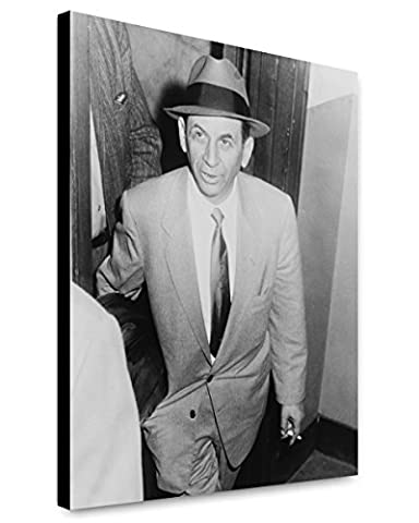 Canvas Print 16x20: Meyer Lansky, Being Booked For Vagrancy, 1958 (Meyer Lansky Poster)