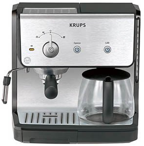 KRUPS XP2010 Combination Unit with 10 Cup Coffee Maker & 15-bar Pump Espresso