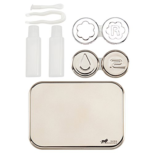 Bissport Cute Contact Lens Case Travel Kit Holder With Mirror (Gold) by Bissport (Image #6)