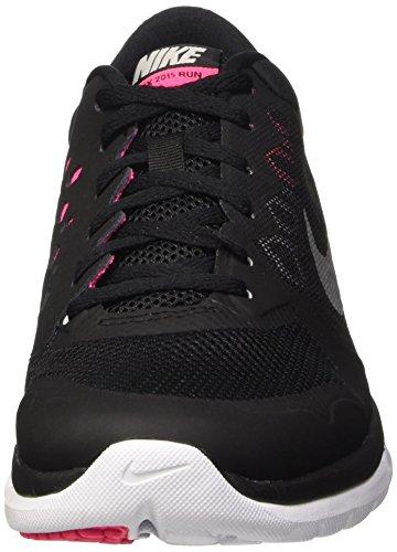 Nike Womens Flex Run 2015 Scarpa Da Corsa Nero / Rosa / Argento Metallizzato